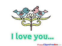 Birds Pics I Love You free Cliparts