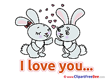 Bunnies Pics I Love You free Image
