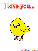 Chicken printable I Love You Images