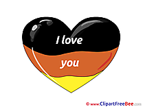 Germany Flag Heart I Love You Clip Art for free