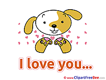 Puppy printable I Love You Images
