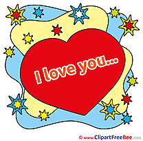 Stars Heart download Clipart I Love You Cliparts