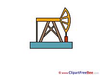 Derrick Oil printable Illustrations for free