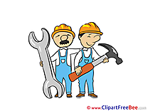 Hammer Wrench Workers Clip Art download for free