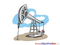 Oil Derrick printable Illustrations for free