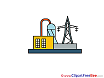 Power Station Clipart free Illustrations