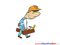 Worker with Tools download printable Illustrations