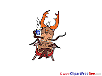Bug Cup of Tea download Clip Art for free
