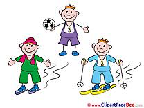 Athletes Children free Cliparts Kindergarten
