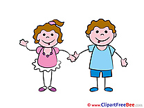 Best Friends Kids printable Illustrations Kindergarten