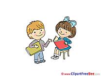 Books reading Kids download Kindergarten Illustrations