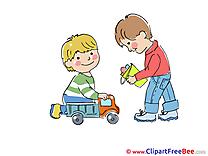 Cars Children Clipart Kindergarten Illustrations