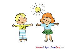 Children free Cliparts Kindergarten