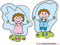 Children jump Rope Kindergarten download Illustration