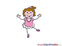 Dancing Girl Pics Kindergarten free Cliparts