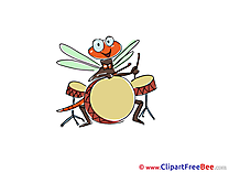 Drum Dragonfly Kindergarten download Illustration