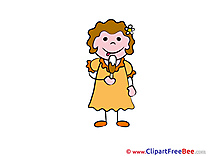 Eating Ice Cream Girl download Kindergarten Illustrations