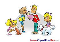 Family Kindergarten Clip Art for free
