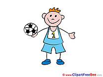 Football Boy Kindergarten Illustrations for free