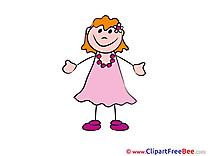Girl free Illustration Kindergarten
