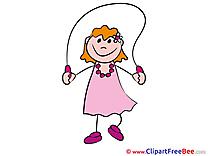 Jump Rope free Cliparts Kindergarten