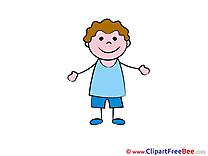 Little Boy Pics Kindergarten Illustration