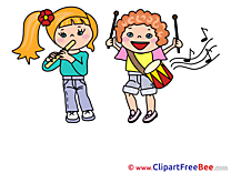 Music Kids Pics Kindergarten free Cliparts