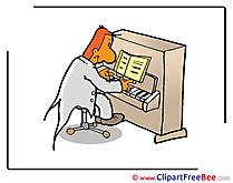 Music Teacher Pics Kindergarten Illustration