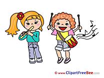 Musicians Children Cliparts Kindergarten for free
