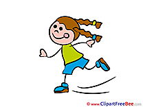Skates Girl free Illustration Kindergarten