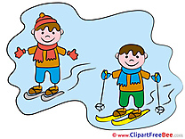 Ski Children Kindergarten Clip Art for free