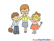 Teacher Children Kindergarten Clip Art for free