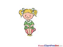Toilet Pee Girl Pics Kindergarten free Image