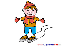 Winter Sport Boy Clipart Kindergarten free Images