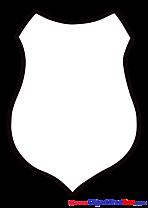 Contour Shield printable Logo Images