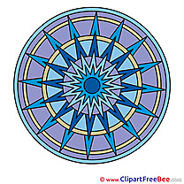 Indian Symbol Cliparts Mandala for free