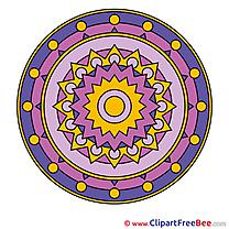 Indian Symbol Mandala download Illustration