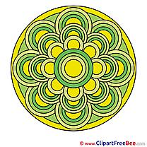 Meditation download Mandala Illustrations