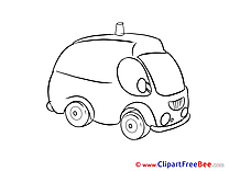 Ambulance Car free printable Cliparts and Images
