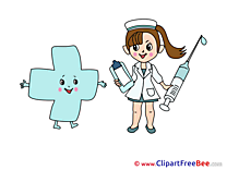 Cross Nurse Syringe download printable Illustrations