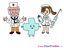 Cross with Doctors free printable Cliparts and Images