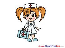 Girl Nurse download printable Illustrations