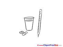 Glass Thermometer Drugs Cliparts printable for free