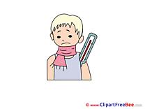 Illness Scarf Boy free Illustration download