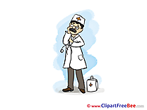Medicine Doctor printable Illustrations for free