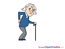 Old Man Patient download Clip Art for free