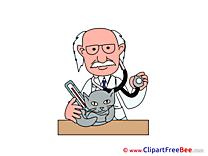 Vet Cat printable Illustrations for free