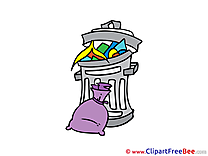 Bin Garbage Clipart free Image download