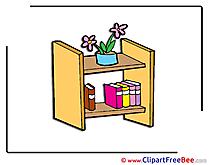 Bookshelf Flowers Books Pics download Illustration