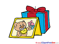 Gift Photo Bear Cliparts printable for free